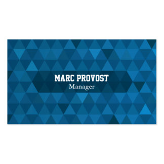Calling card Blue Triangles
