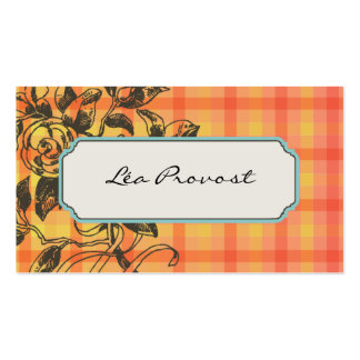 Calling card Floral Paper