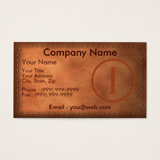 calling card leather letter I