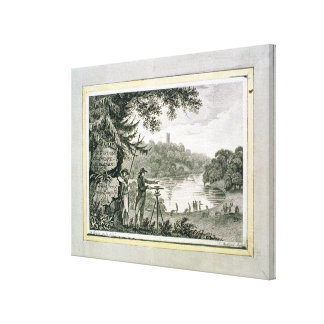Calling card of Humphrey Repton, engraved by Thoma Canvas Print