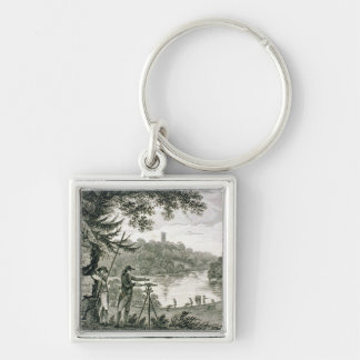 Calling card of Humphrey Repton, engraved by Thoma Keychain
