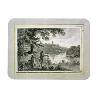 Calling card of Humphrey Repton, engraved by Thoma Rectangular Photo Magnet