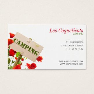 Calling card professional, camp-site