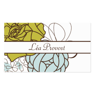 Calling card Romantic Flowers
