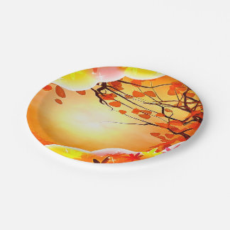 Calling Harvest THANKSGIVING FALL AUTUMN Paper Plate