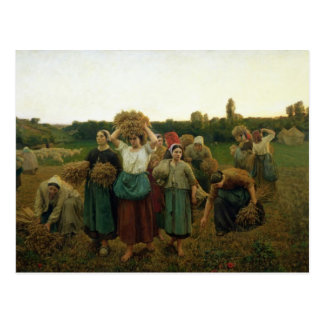 Calling in the Gleaners, 1859 Postcard