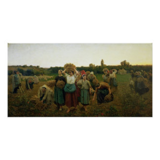Calling in the Gleaners, 1859 Poster