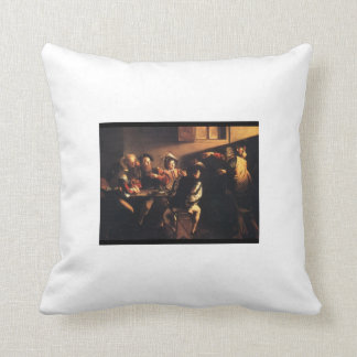 Calling of St. Matthew by Caravaggio Throw Pillows