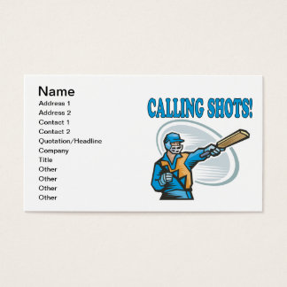 Calling Shots Business Card