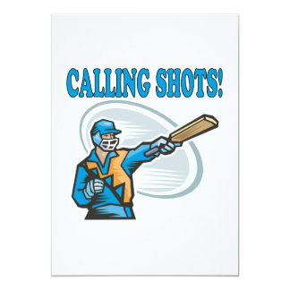 Calling Shots 5x7 Paper Invitation Card