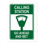Calling Station Postcard
