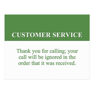 Calling the Customer Service Line (2) Postcard