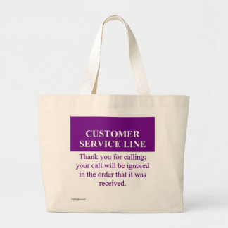 Calling the Customer Service Line (3) Large Tote Bag