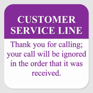 Calling the Customer Service Line (3) Stickers