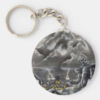 Calling the Storm Basic Round Button Keychain