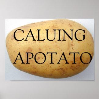 Calling You A Potato Poster