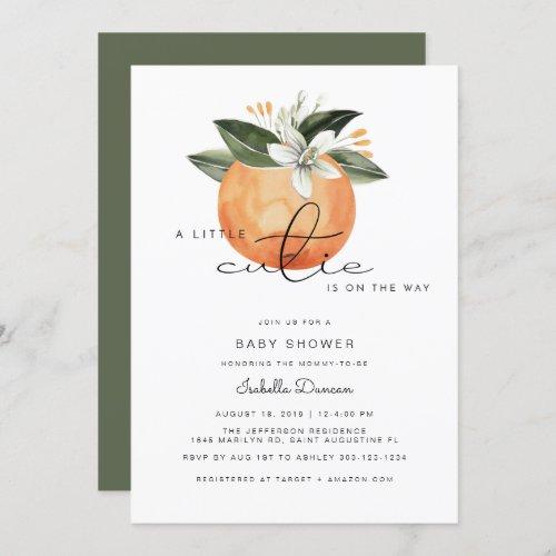 Calliope _ A little Cutie Baby Shower Oranges Invitation