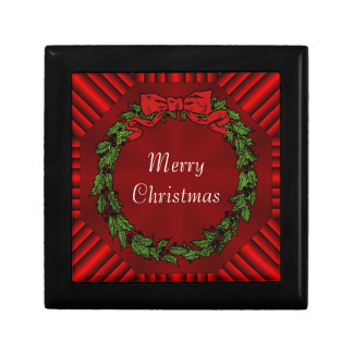 Calliope Christmas Wood Gift Box w/ Tile