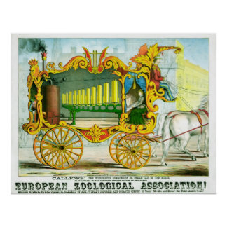 Calliope ! Circus Poster - Vintage Art Poster