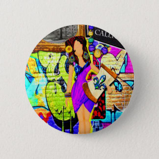 Calliope Girl Pinback Button