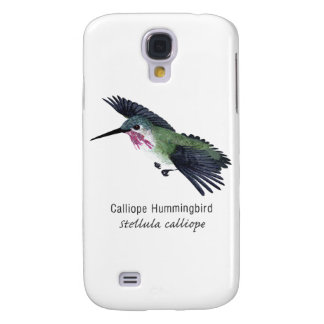 Calliope Hummingbird with Name Galaxy S4 Cases