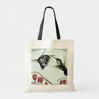 Calliope hummingbirds  flowers budget tote bag