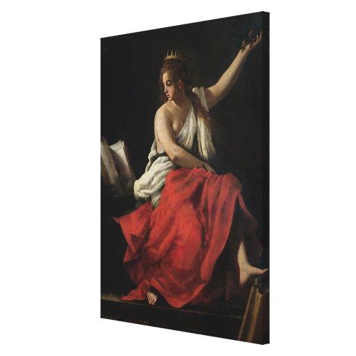 Calliope, musa de la poesía épica impresiones de lienzo