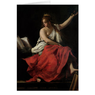 Calliope, musa de la poesía épica tarjeta