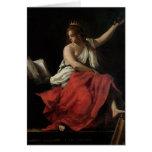 Calliope, musa de la poesía épica tarjeta de felicitación