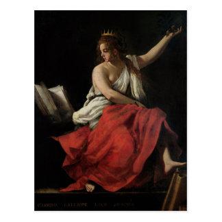 Calliope, musa de la poesía épica tarjetas postales