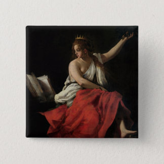 Calliope, Muse of Epic Poetry Button