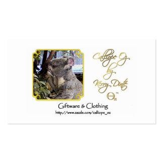 Calliope_Oz Advertisement Business Card Templates
