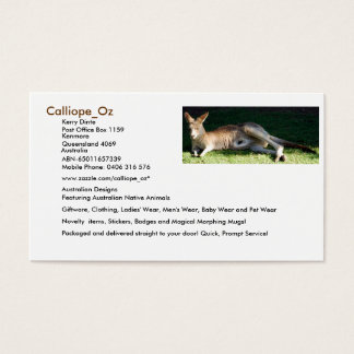 Calliope_Oz Business Cards