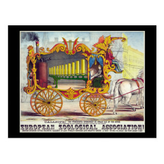 Calliope steam car of the muses postcard