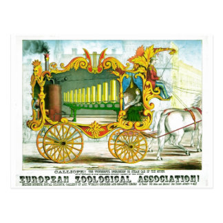 Calliope - Wonderful Operonicon Chromolithograph Postcard