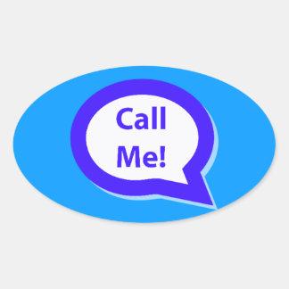 CALLME ME LLAMAN SHOUTOUT QUE LIGA LA DIVERSIÓN H CALCOMANIA OVAL PERSONALIZADAS
