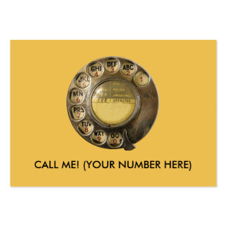 CALLME! Old British Telephone Dial Design Large Business Cards (Pack Of 100)