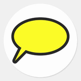 Callout icon classic round sticker