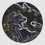 Cally the Neon Persian Cat Stickers