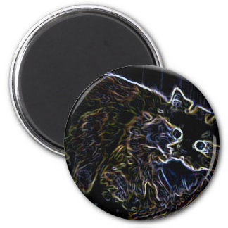 Cally the Neon Persian Cat Stickers Fridge Magnets