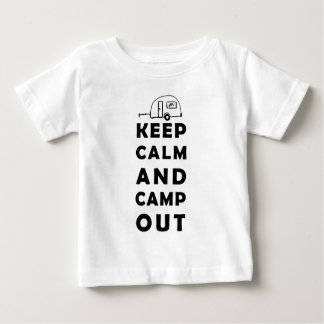 Calm and camp Keep out Playera