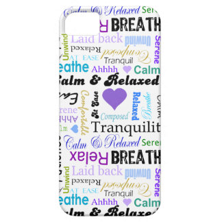 Calm and Relaxing positive words typography iPhone 5 Cases