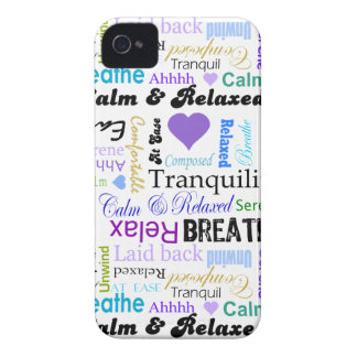 Calm and Relaxing positive words typography iPhone 4 Cover