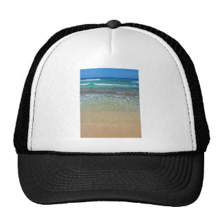 Calm beach waters mesh hats