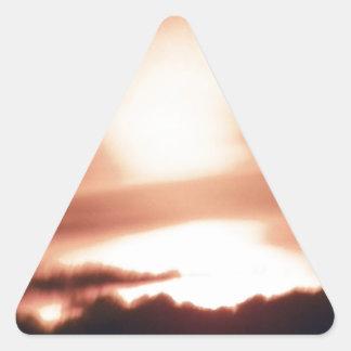 calm before storm.JPG Triangle Sticker