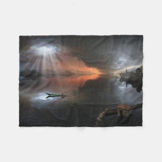 Calm Before Storm Small Fleece Blanket