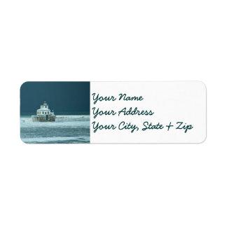 Calm Before the Storm Lighthouse Custom Return Address Label
