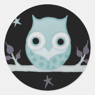 Calm Blue Owl Stickers