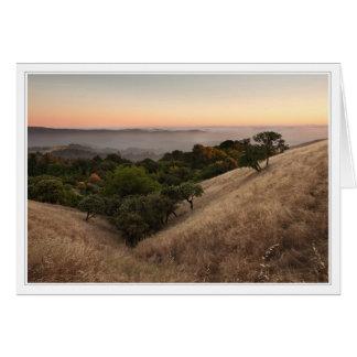 Calm California Hillside Card