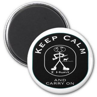 Calm Deer Hunter 2 Inch Round Magnet
